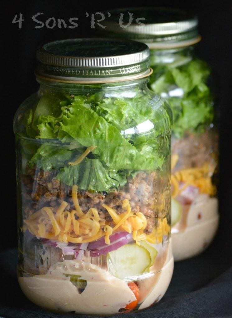 Cheeseburger Mason Jar Salad 2