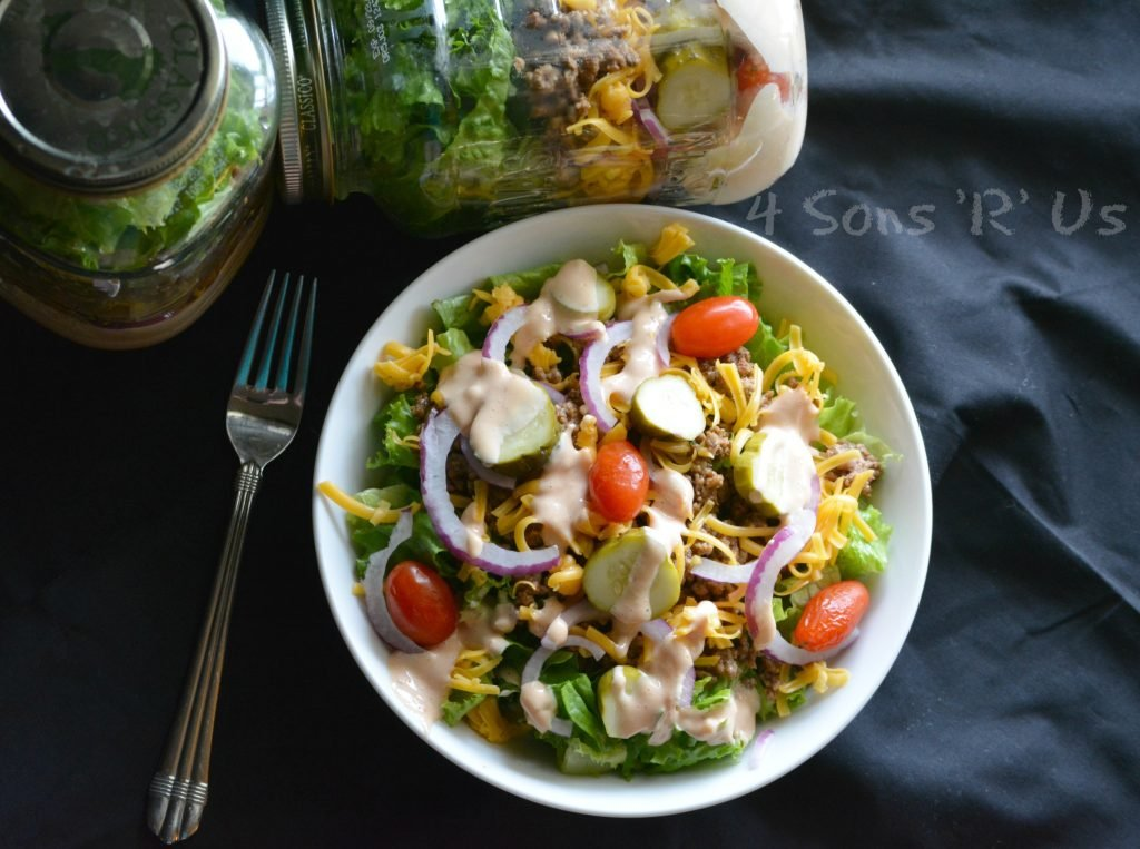 Cheeseburger Mason Jar Salad 4