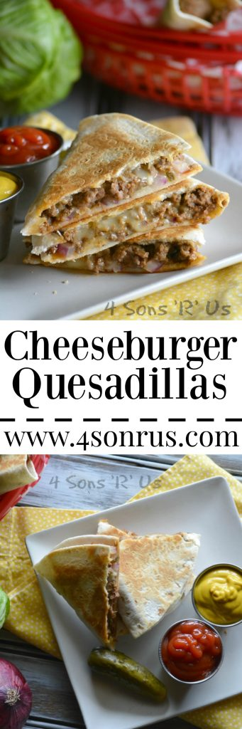 Cheeseburger Quesadillas Pin