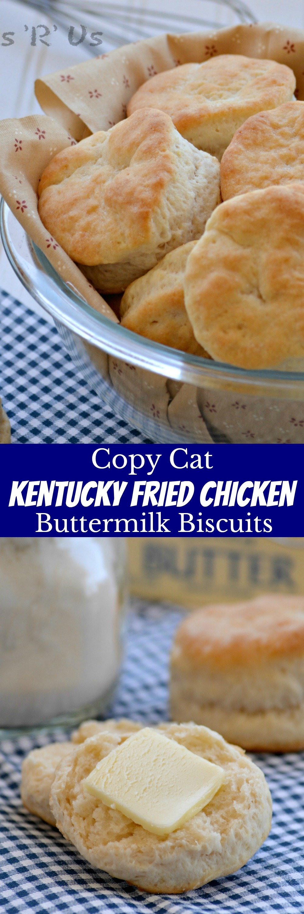 Everyone loves a good biscuit, but in the South we have a special affinity for them. Don't wait to get your biscuit game on, because you don't want to miss out on these! With a golden, buttery crisp on the outside and flaky soft inside the layers that just melt in your mouth these Copy Cat KFC Biscuits are the only buttermilk biscuit recipe you'll ever want or need.