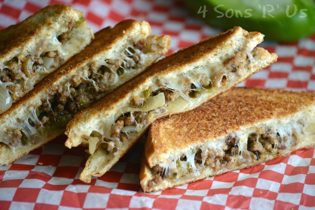 Ground Beef Philly Cheesesteak Grilled Cheese 2