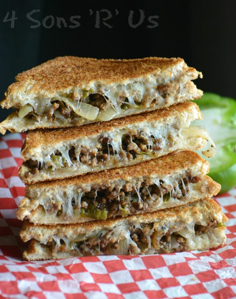 Ground Beef Philly Cheesesteak Grilled Cheese 4