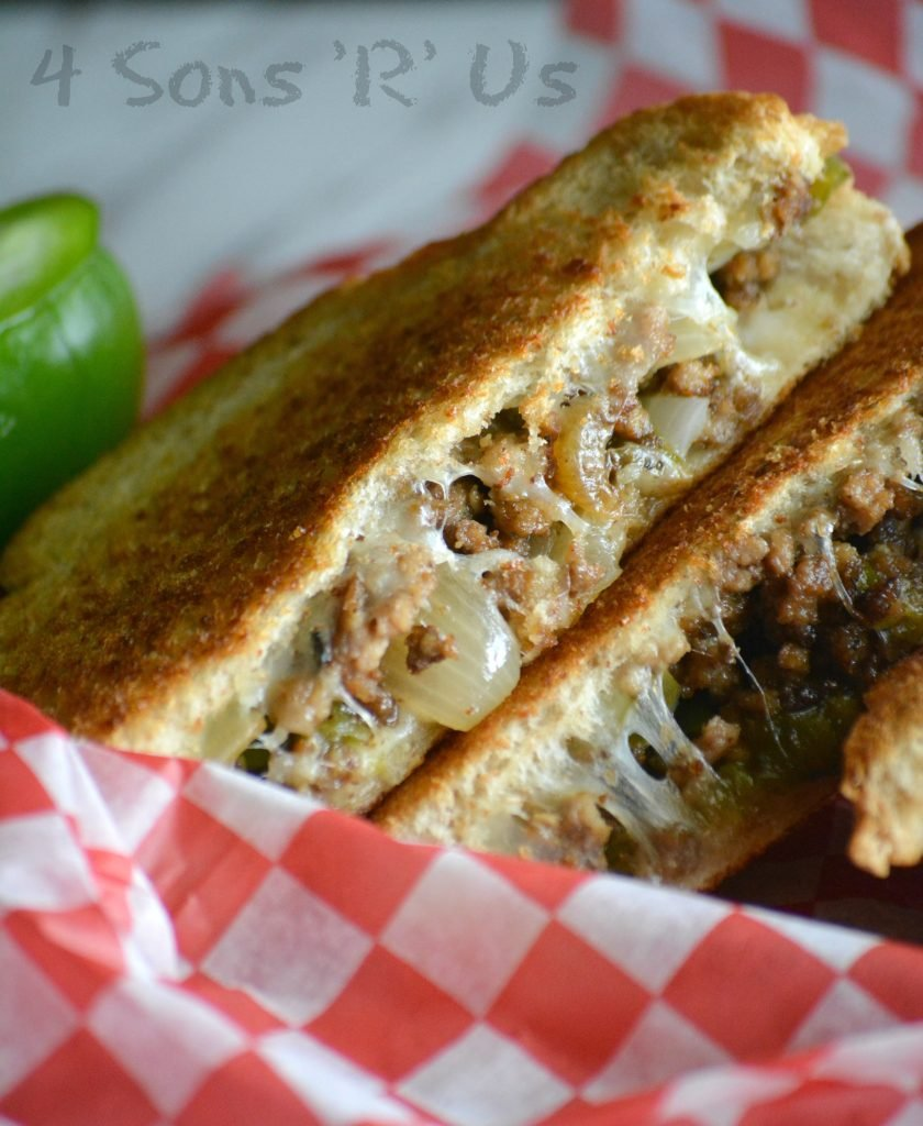 Ground beef philly cheesesteak grilled cheese 4 sons r us ground beef philly cheesesteak grilled cheese forumfinder Images