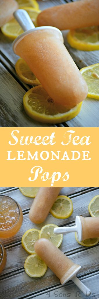 Sweet Tea Lemonade Pops