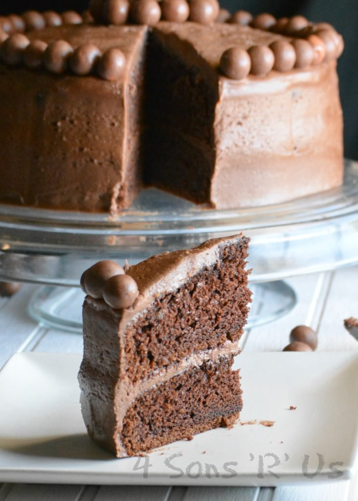 Chocolate Malted Milkshake Cake