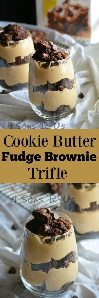 Cookie Butter Fudge Brownie Trifle