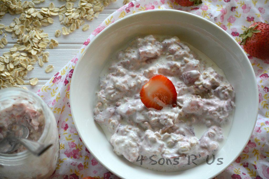 Strawberries & Cream Overnight Oatmeal