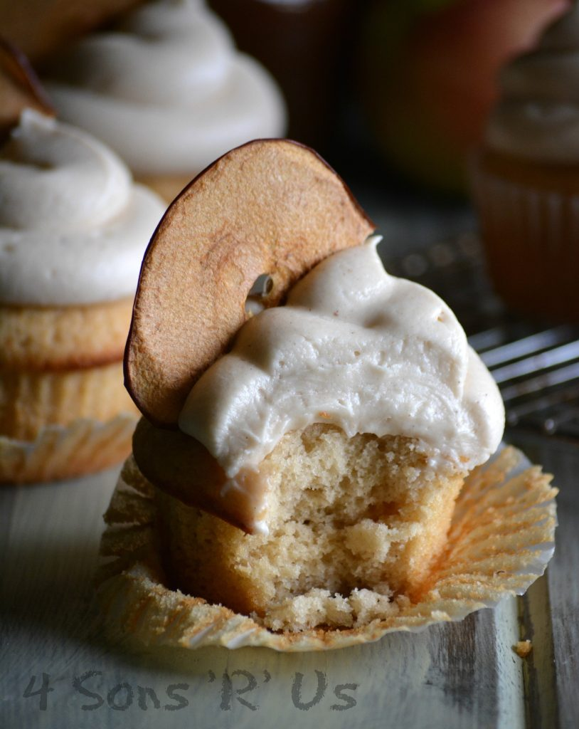 Apple Butter Cupcakes With Cinnamon Apple Cream Cheese Frosting