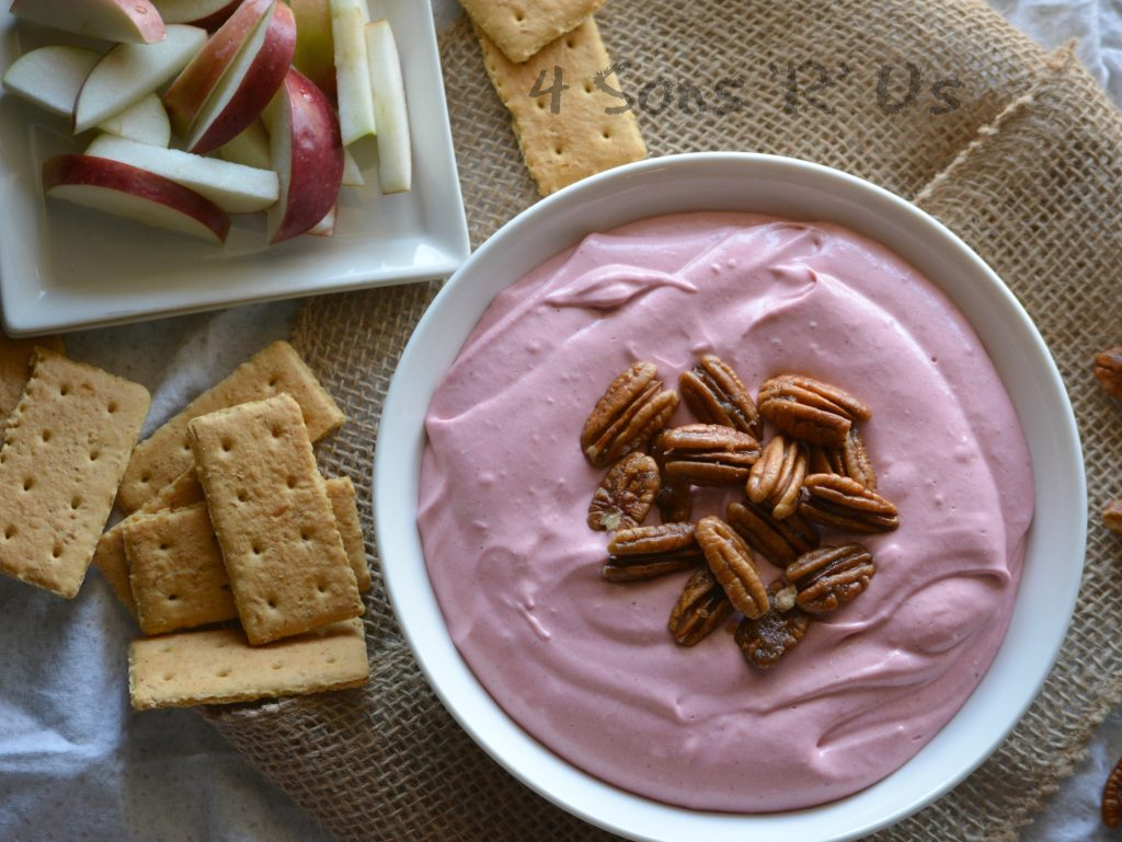 Creamy Cranberry DIp With Candied Pecans