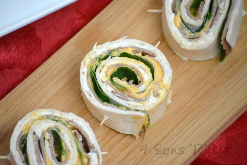 Roast Beef & Cheddar Horseradish Pinwheels