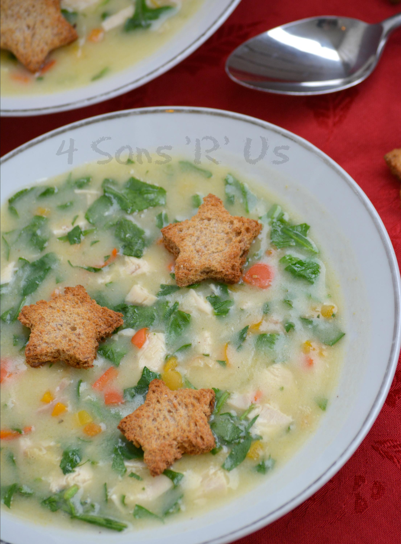 Christmas Soup.Christmas Confetti Chicken Soup