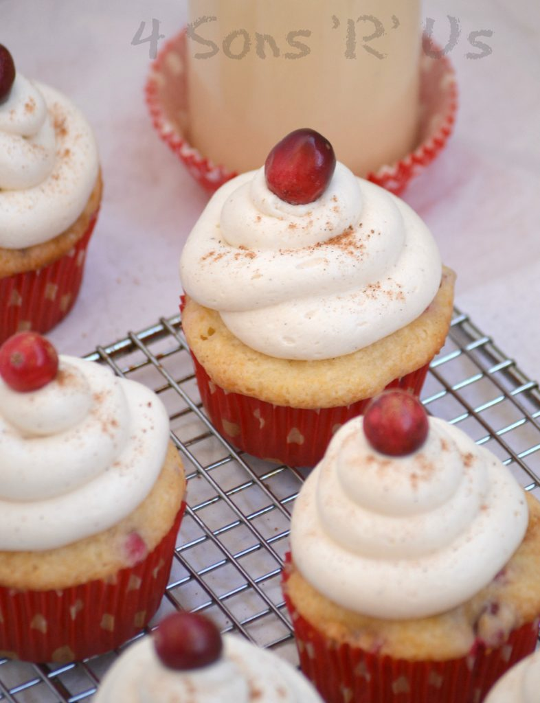 Cranberry Eggnog Cupcakes with Spiced White Chocolate Buttercream ...