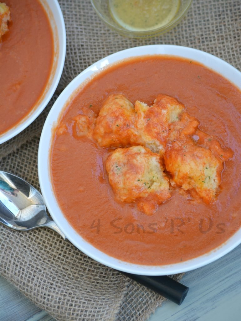 Tomato Bisque with Cheddar Bay Dumplings