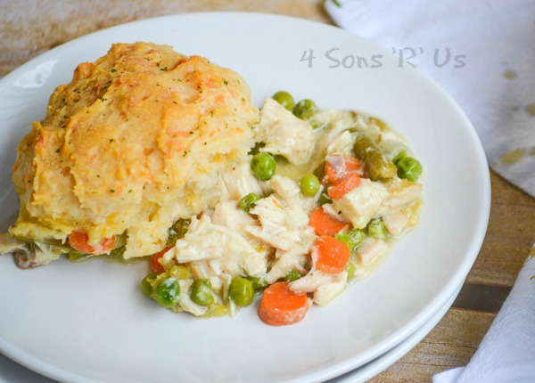 Cheddar Bay Biscuit Topped Chicken And Veggie Cobbler