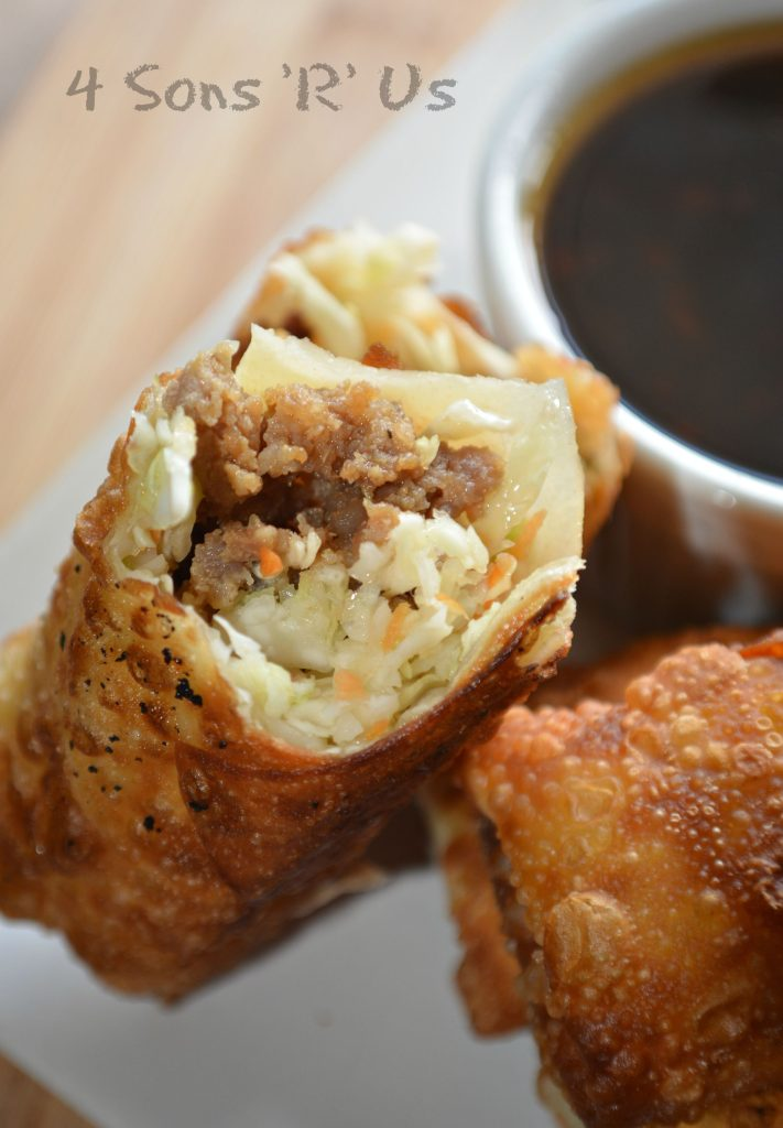 Crispy Homemade Egg Rolls with a Sesame Ginger Dipping Sauce
