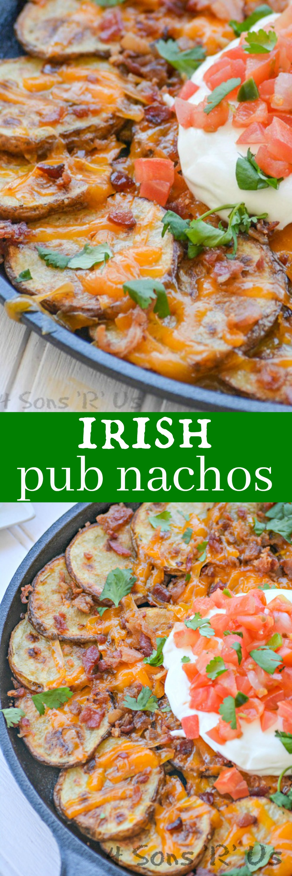The Irish love their sports and their holidays, and if it's one thing they know- it's how to celebrate with good food. You're going to want these quick and easy, totally delectable Irish Pub Nachos at your next party.