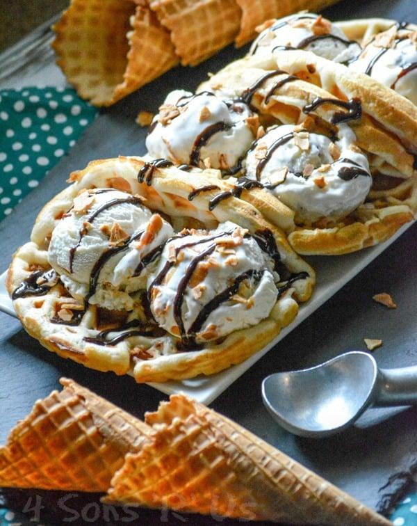 PB Ice Cream Waffle Taco