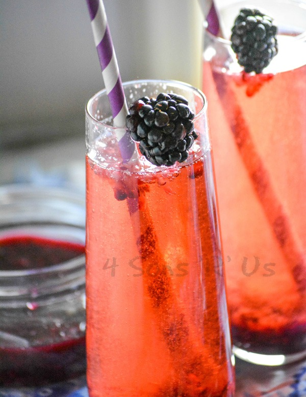 Blackberry Lavender Champagne Cocktail