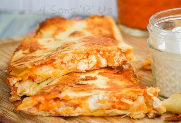 Extra Cheesy Buffalo Chicken Quesadillas 4 Sons R Us
