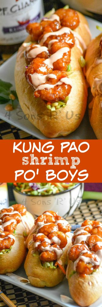 Kung Pao Shrimp Po' Boys