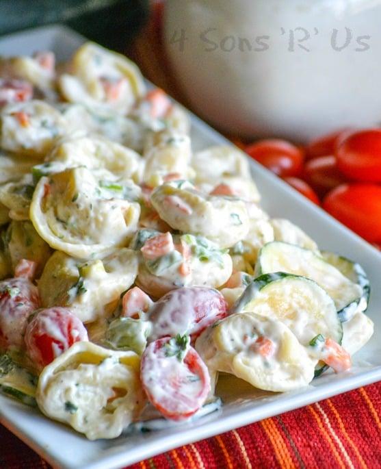 Summertime Tortellini And Vegetable Pasta Salad