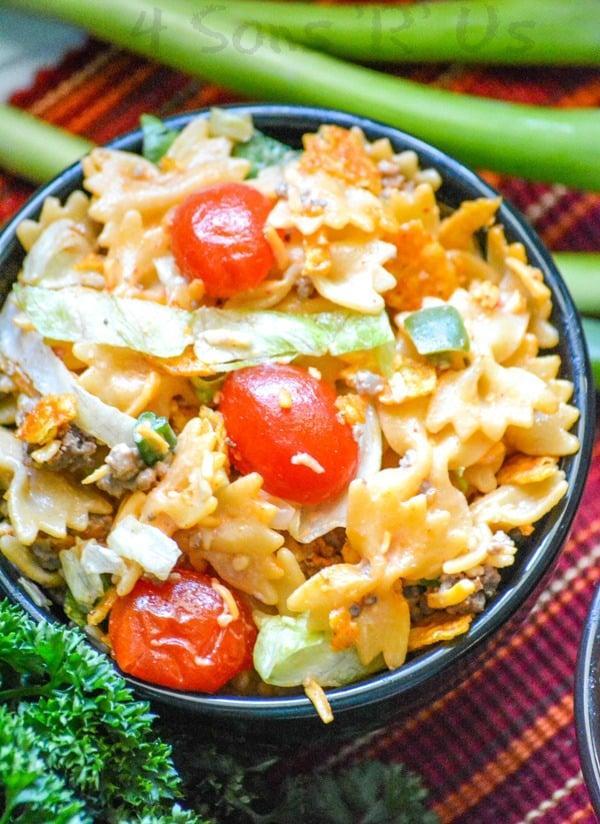Crunchy Doritos Taco Pasta Salad