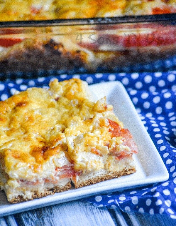 Cheesy Tomato Biscuit Casserole