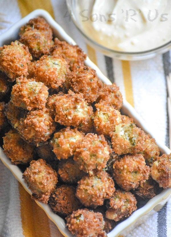 Fried Olives with Garlic Aioli