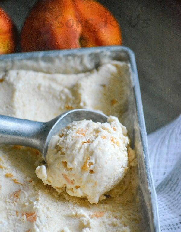 Peaches & Cream No Churn Ice Cream