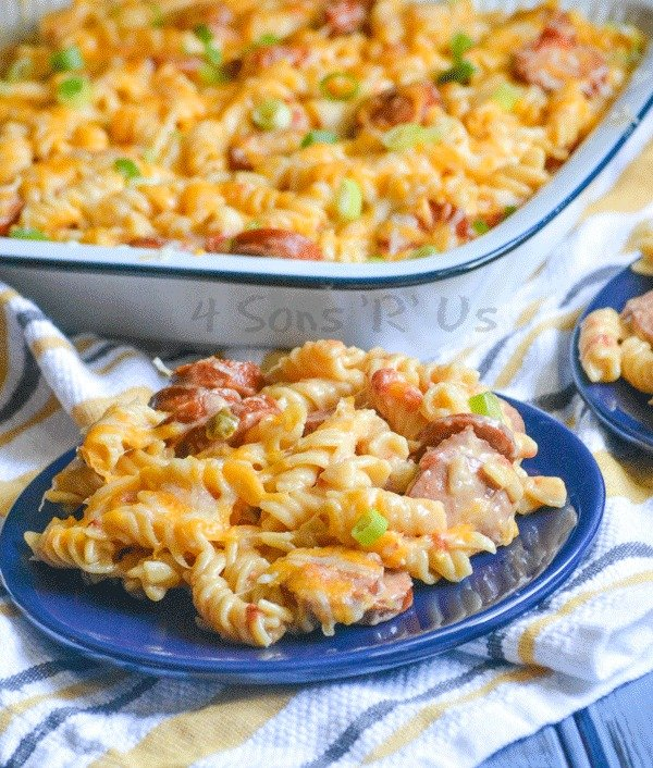 Spicy Sausage and Pasta Casserole