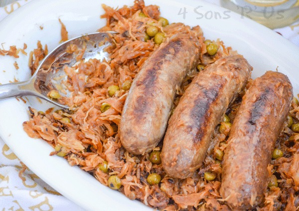 Beer Bratwurst with Caramelized Sauerkraut