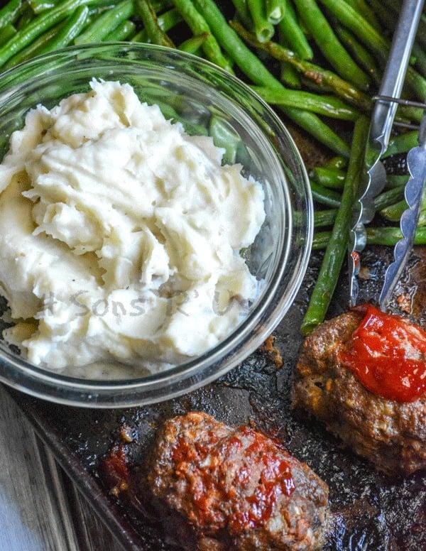 Sheet Pan Meatloaf Supper