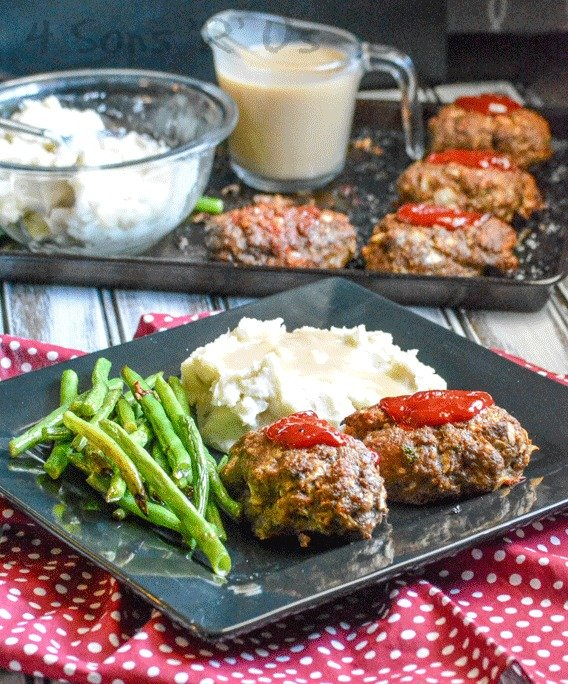 Sheet Pan Meatloaf Supper