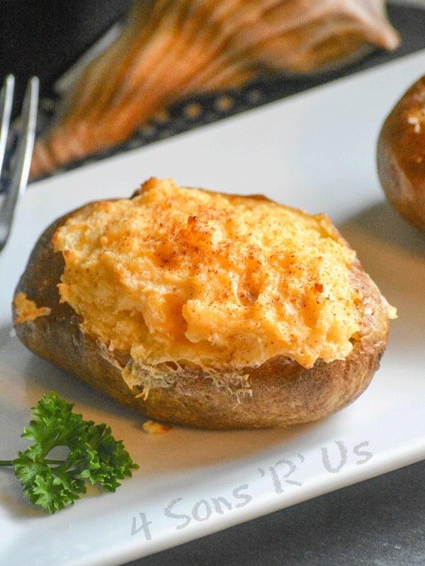 Twice Baked Crab Stuffed Potatoes