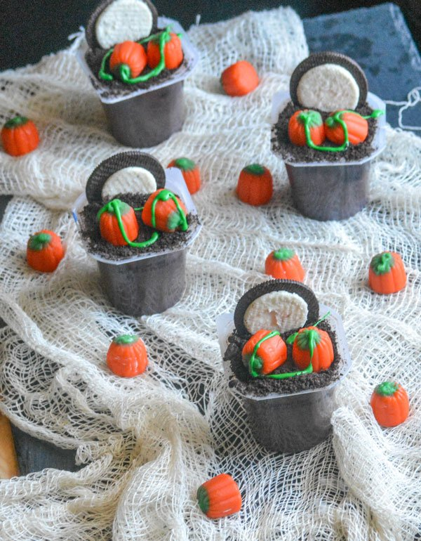 Moonlit Pumpkin Patch Pudding Snacks