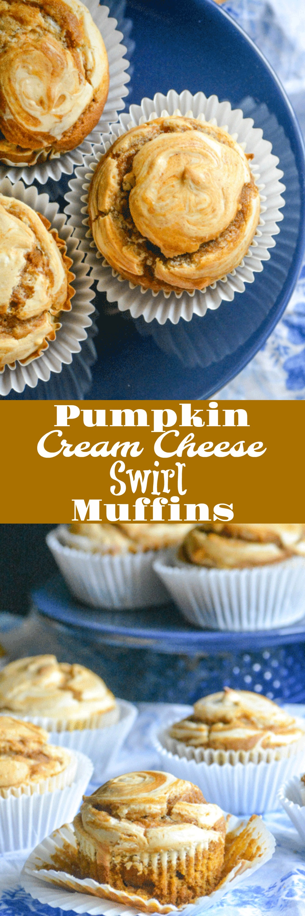 Cupcakes are a no brainer for dessert, but what if I told you you could have a breakfast muffin that tasted like a lightly frosted cupcake? These Pumpkin Cream Cheese Swirl Muffins leave you lickin' your fingers for crumbs with their sweet pumpkin pie spiced selves and a creamy, melt in your mouth cream cheese swirl.