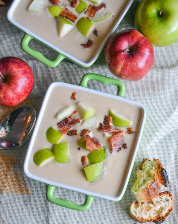 Roasted Apple & White Cheddar Soup