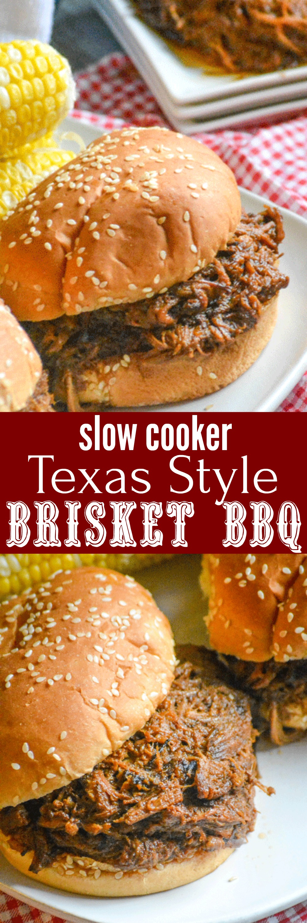 Who doesn't love a good plate of barbecue? This Slow Cooker Texas Style Barbecue Brisket Sandwiches is easy, easy enough for any day. Piled high on fluffy buns, these sandwiches are a filling meal that's finger lickin' good.