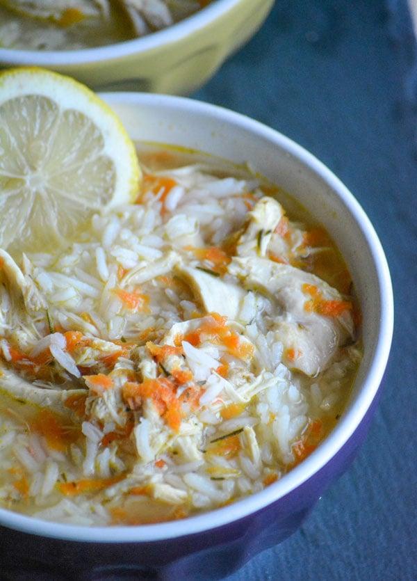 Copy Cat Taziki's Greek Lemon Chicken Soup