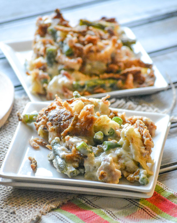http://dariuscooks.tv/2015/06/green-bean-casserole-bread-pudding/