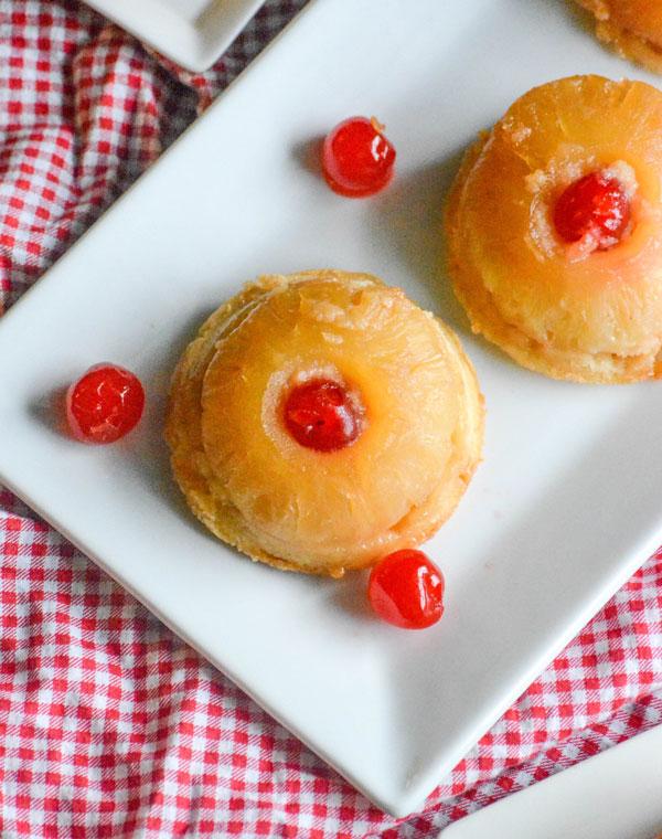 Pineapple Upside Down Sugar Cookie Cakes