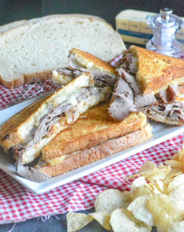Roast Beef & Smoked Gouda Grilled Cheese