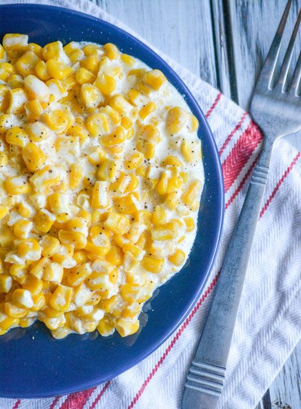Slow Cooker Homemade Cream Style Corn