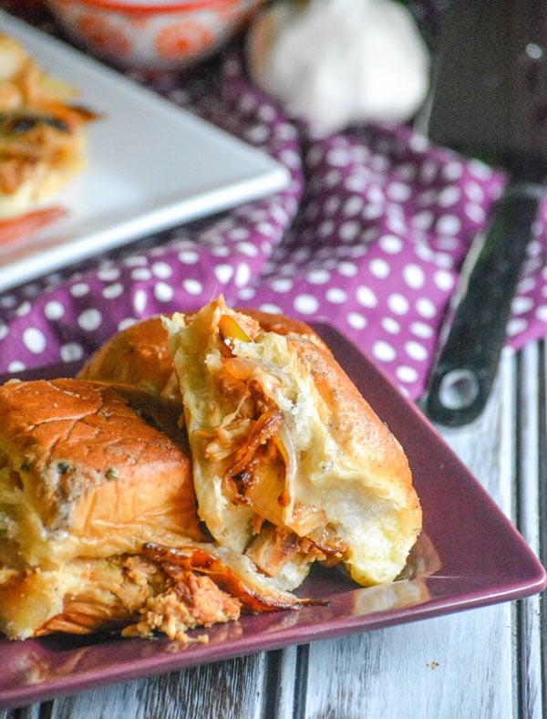 Spicy Barbecue Chicken Fajita Sliders