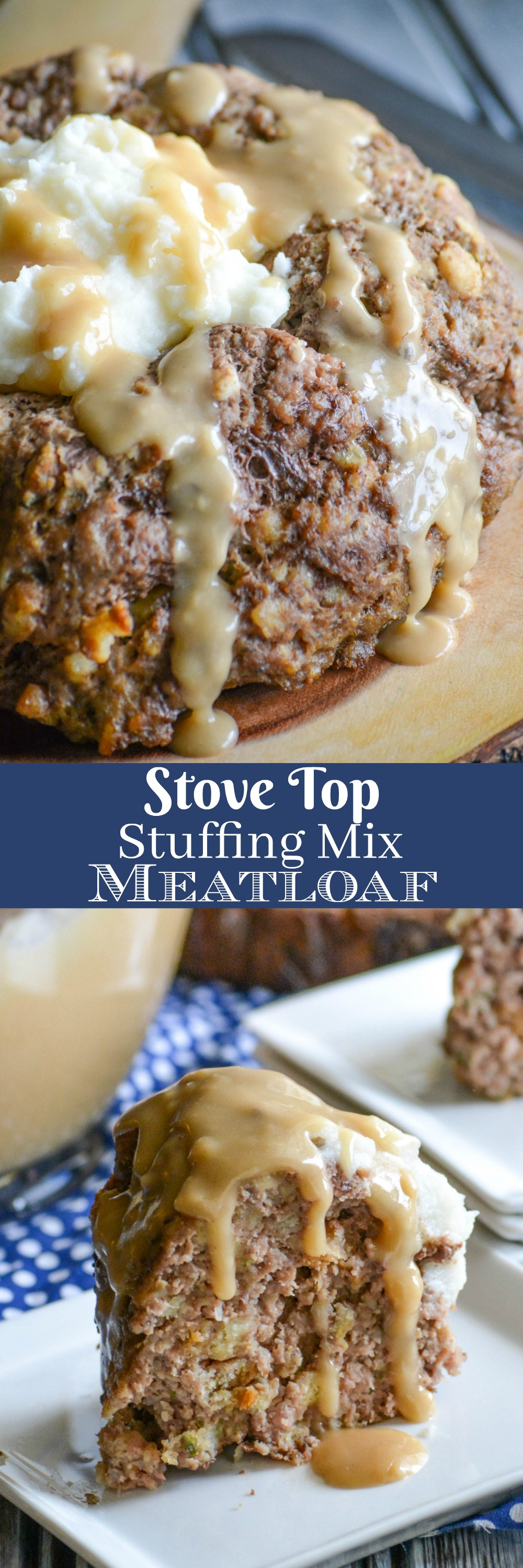 An easy meatloaf with a simple ingredient list, this Stove Top Stuffing Mix Meatloaf is the perfect dinner for busy nights. Served with creamy mashed potatoes and rich gravy, your family will never guess your secret to such a cozy meal.