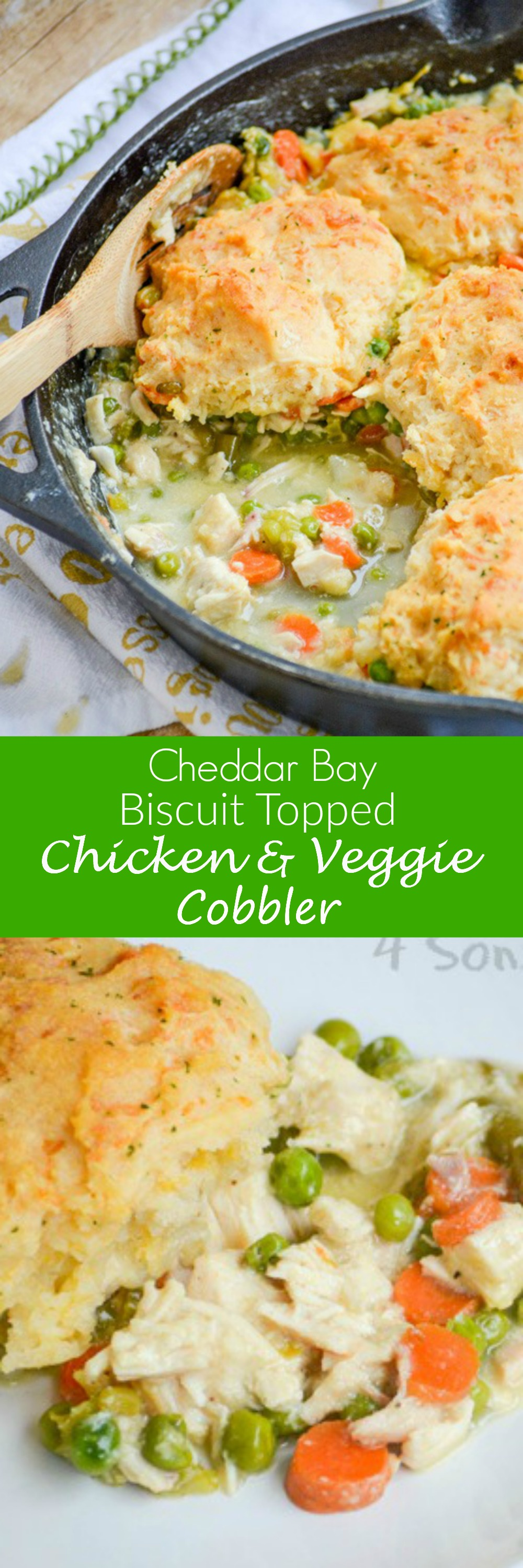 A hearty pot pie always seems like a good idea when snow & cold weather are in the forecast. This Cheddar Bay Biscuit Topped Chicken And Veggie Cobbler is an updated version of the classic dinner recipe.