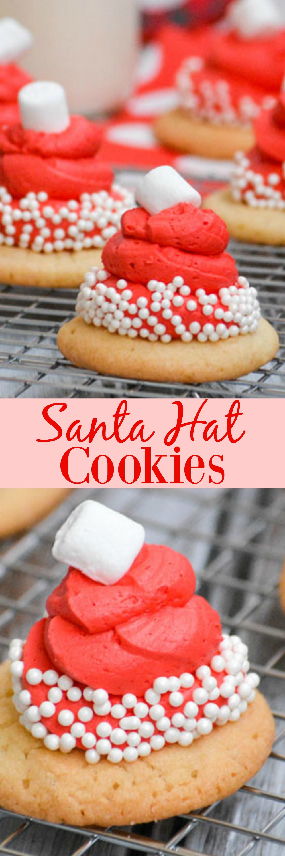 Cookies are synonymous with Christmas and the Big Guy. This year, we're leaving him an extra special snack with these Santa Hat Cookies. They're easy, they're soooo yummy, and they're perfect for getting kids in the kitchen and excited about a festive dessert.