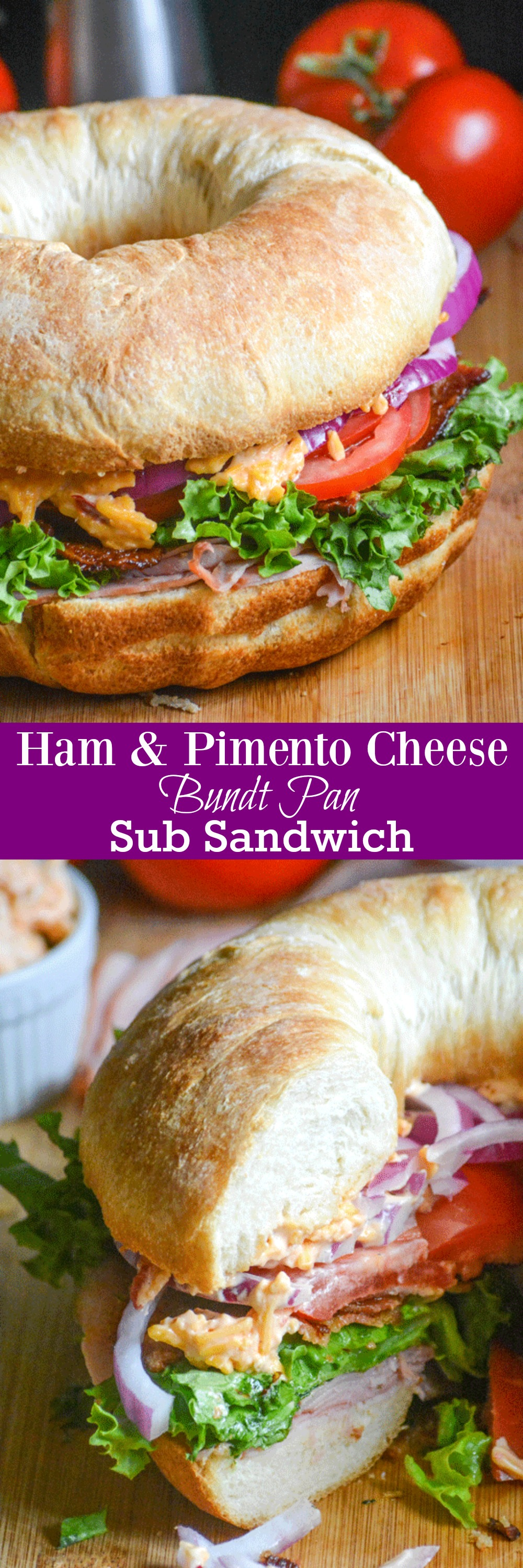 Get as excited about the great food as your are about the Big Game with this fun new way to feed your guests. Our Ham & Pimento Cheese Bundt Pan Sub Sandwich is quick & easy making it a perfect party appetizer or lunch. It's a yummy win for everyone!