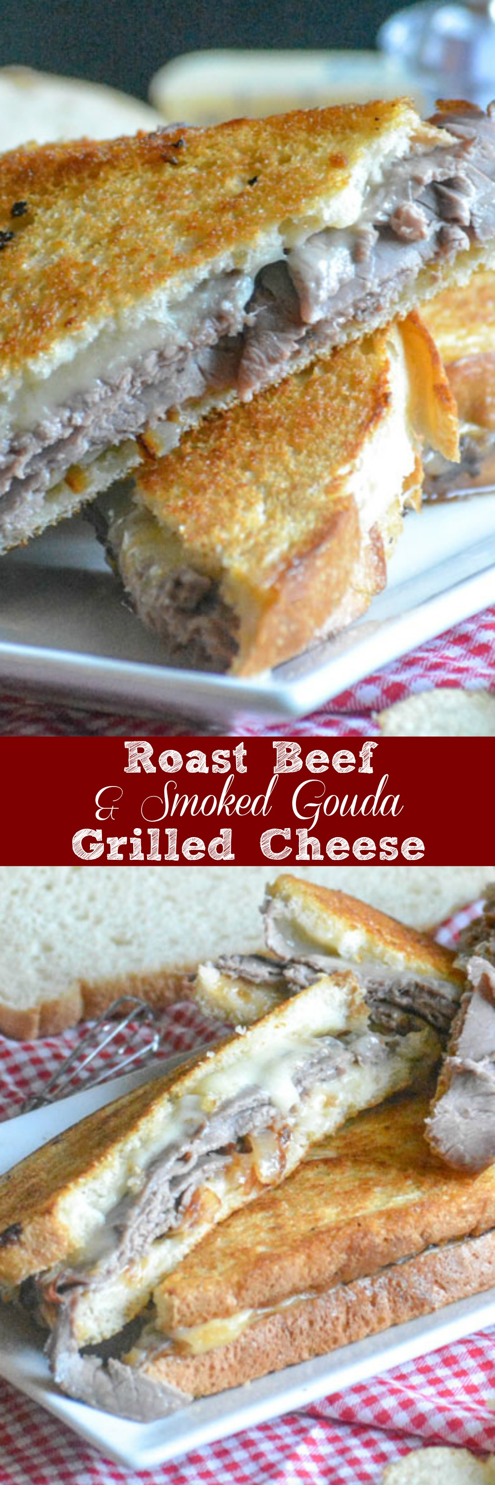 The grilled cheese you grew up with might not be enough to fill you up these days. No worries! This Roast Beef & Smoked Gouda Grilled cheese sandwich is hearty enough for the hungriest men in your life, whether it's lunch or dinner, and so good- that they might not believe you when you tell 'em it's homemade.