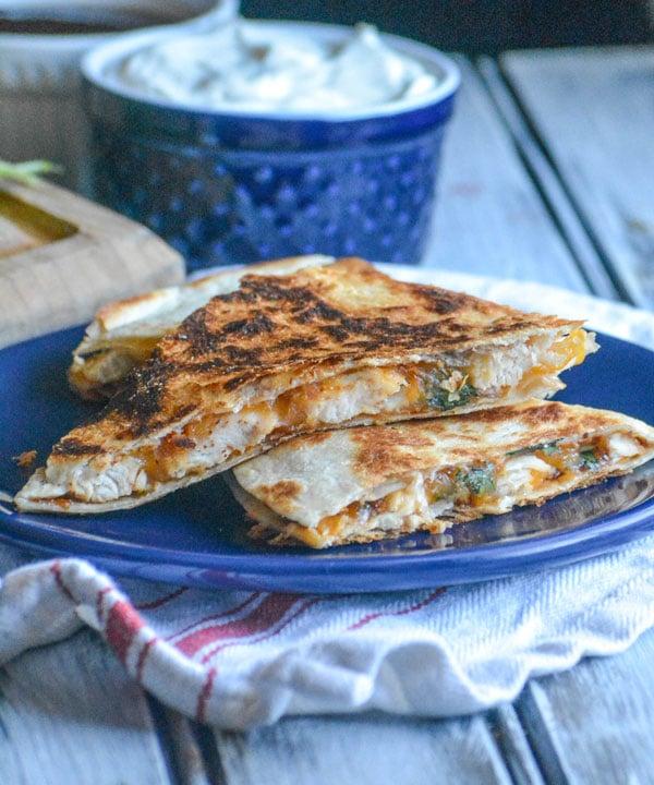 Cheesy Barbecue Chicken Quesadillas